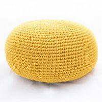 Пуф желтый из декоративного шнура - дизайнерские товары на Take&Live