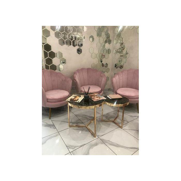 Комплект столиков Delia Gold - дизайнерские товары на Take&Live