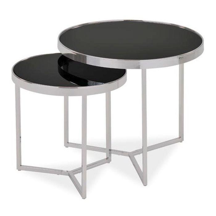 Комплект столиков Delia Chrome - дизайнерские товары на Take&Live