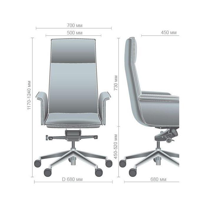 Кресло для руководителя Piet Black - дизайнерские товары на Take&Live
