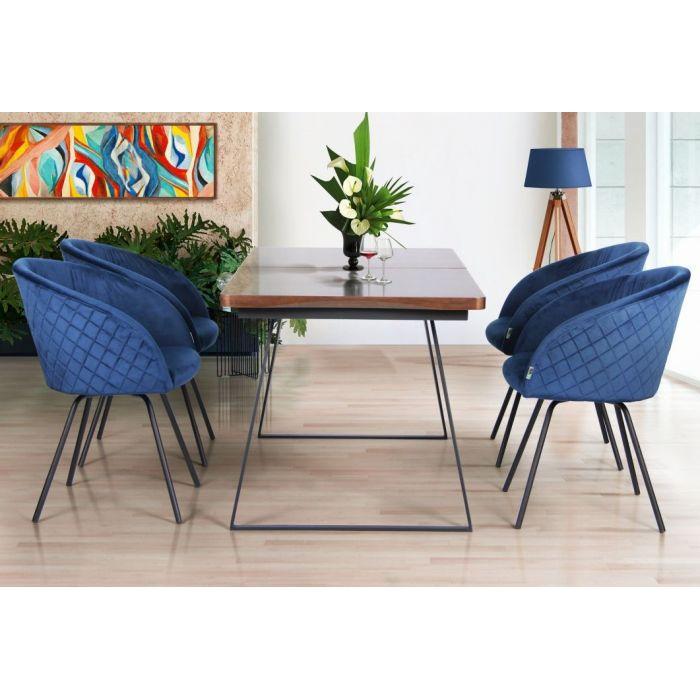 Кресло поворотное Sacramento Blue - дизайнерские товары на Take&Live