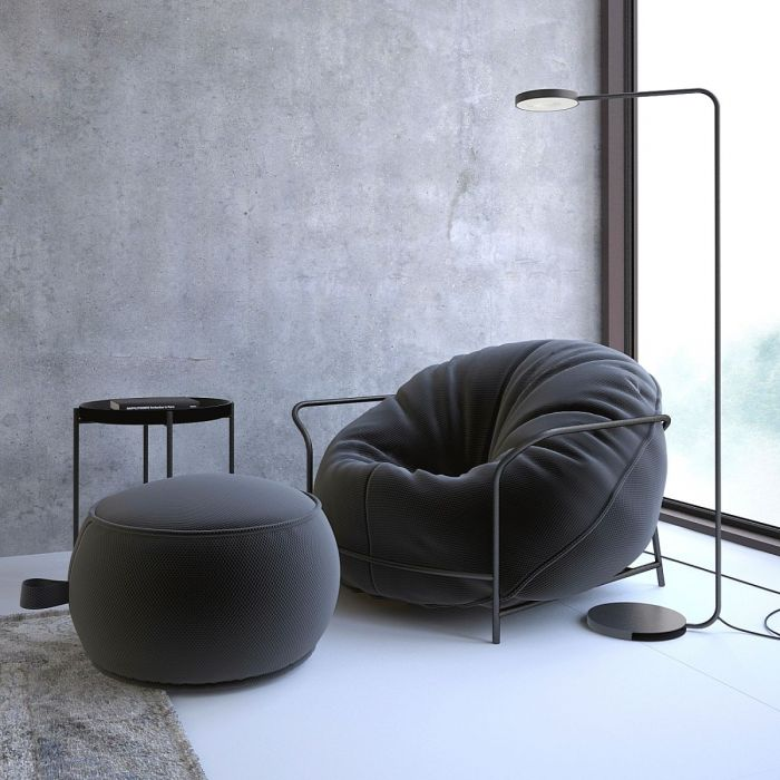Кресло Uni с пуфом - дизайнерские товары на Take&Live