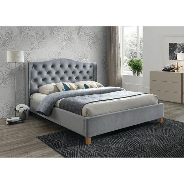 Кровать Aspen Velvet Grey - дизайнерские товары на Take&Live