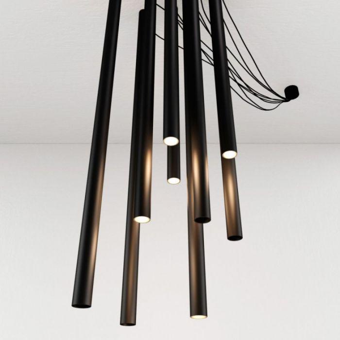 Люстра потолочная TUBE black 8 - дизайнерские товары на Take&Live