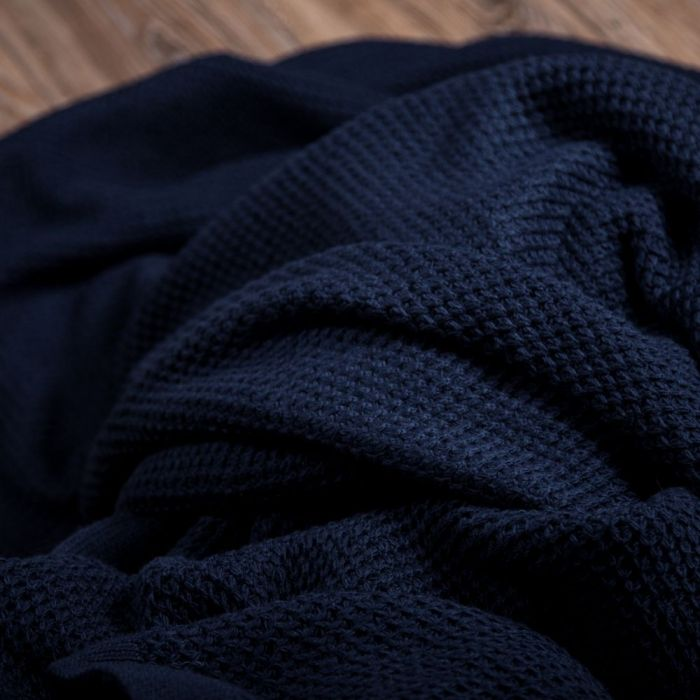 "Плед ""Имидж"" темно-синий - дизайнерские товары на Take&Live"