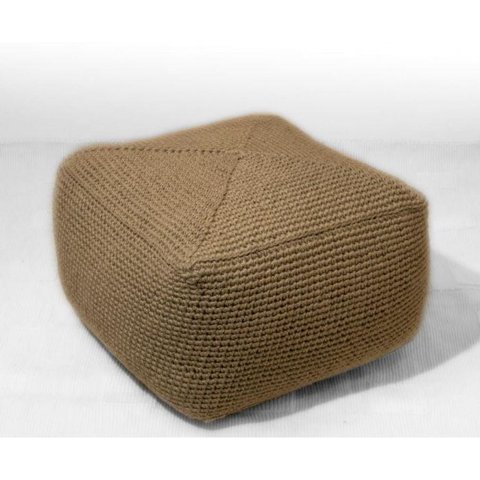 Пуф квадратный, джутовый - дизайнерские товары на Take&Live