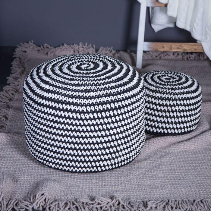 Пуф Rond White Black - дизайнерские товары на Take&Live