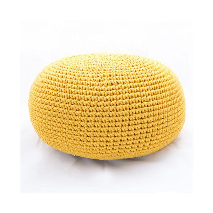 Пуф жовтий з декоративного шнура - дизайнерские товары на Take&Live