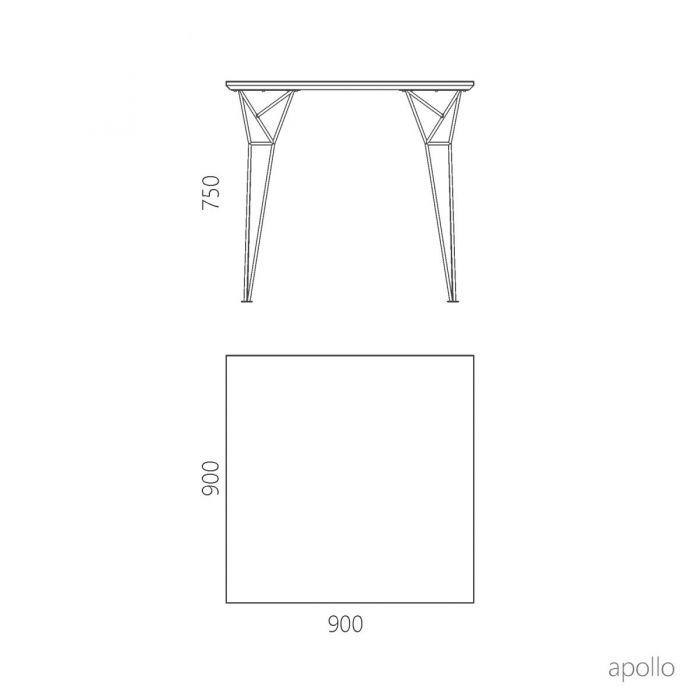 Стол обеденный квадратный Apollo - дизайнерские товары на Take&Live