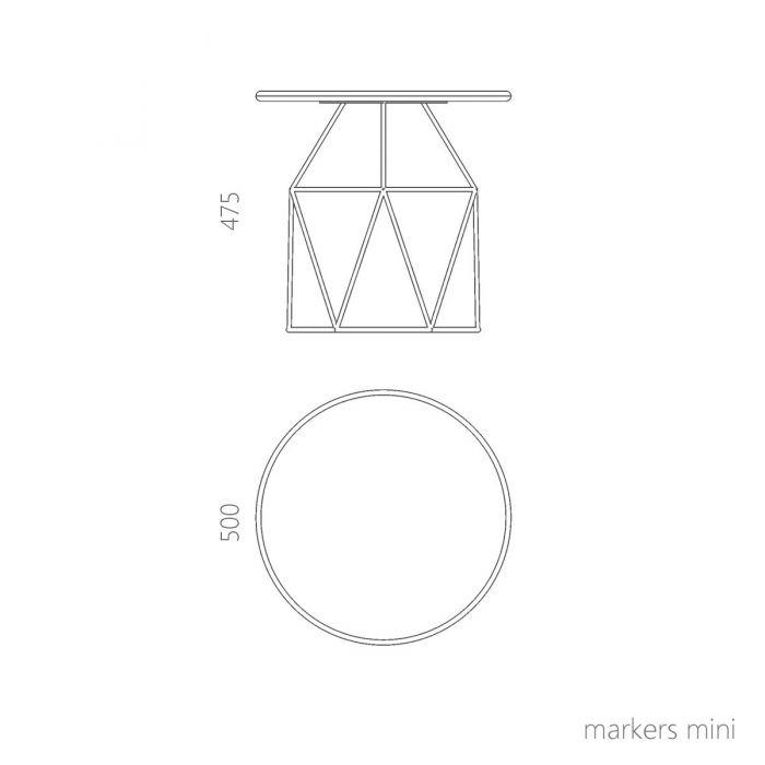 Стол журнальный MARKERS mini - дизайнерские товары на Take&Live
