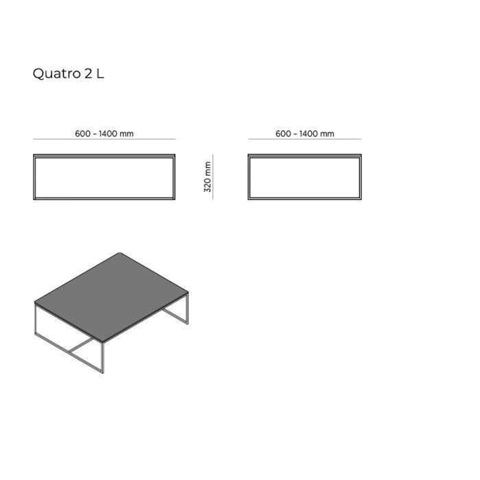 Стол журнальный Quatro 2 - дизайнерские товары на Take&Live