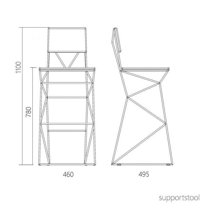 Стул барный Supportstool - дизайнерские товары на Take&Live