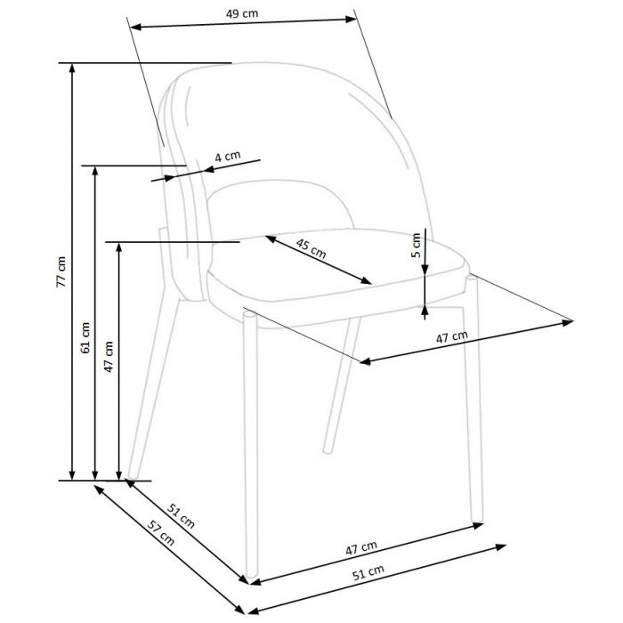 Стул H373 Beige - дизайнерские товары на Take&Live