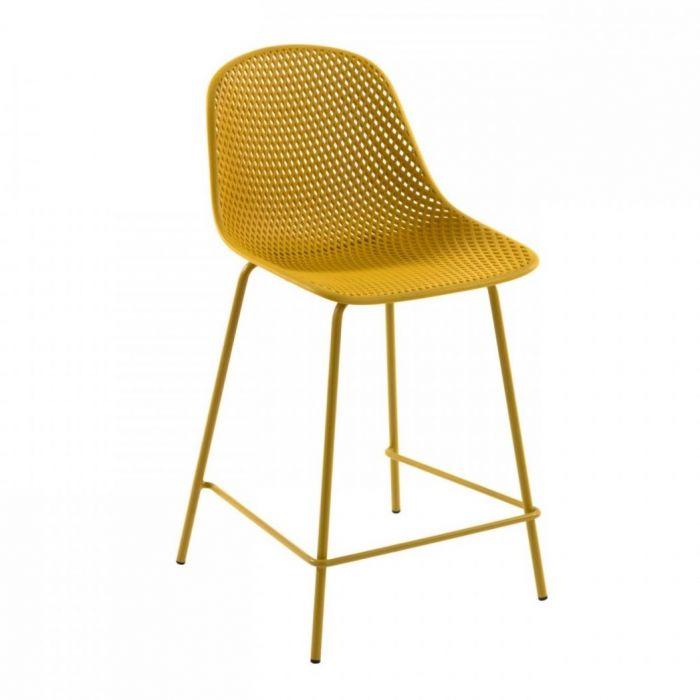 Стул полубарный Quinby Yellow - дизайнерские товары на Take&Live