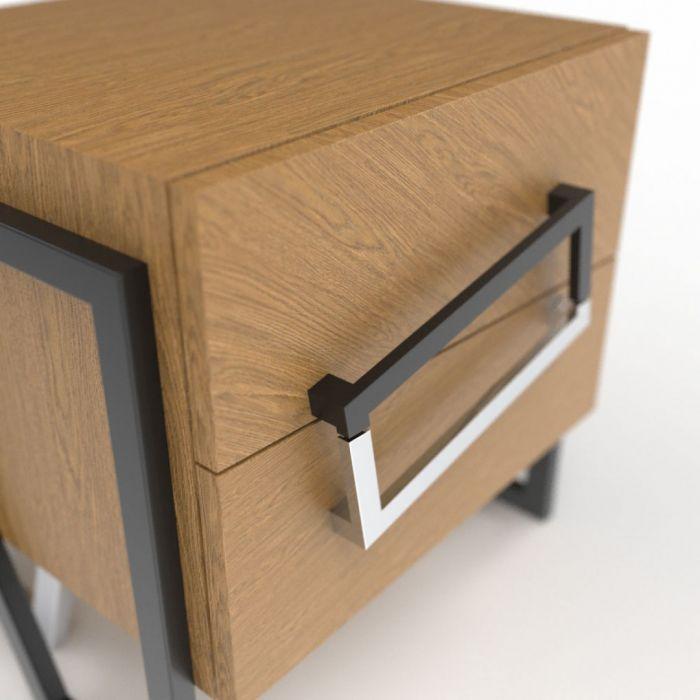 Тумба прикроватная ANGLE Oak - дизайнерские товары на Take&Live