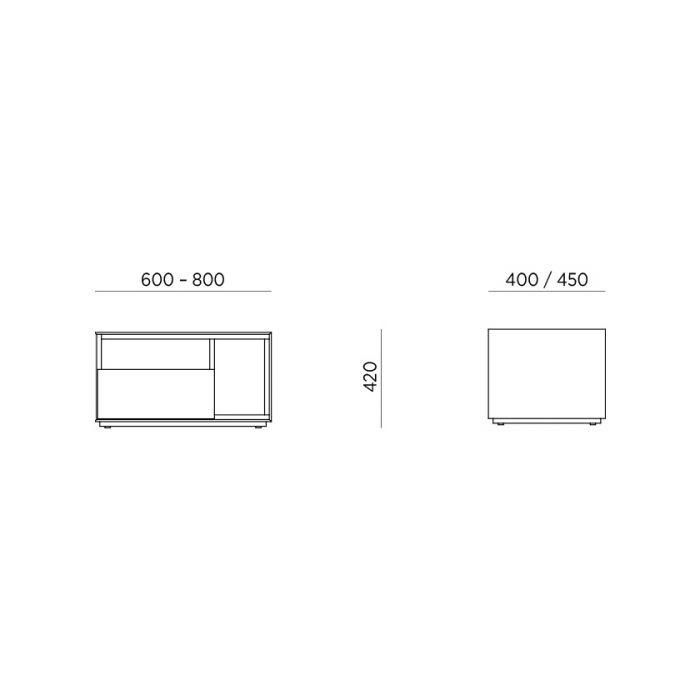 Тумба прикроватная Idea S1W2 - дизайнерские товары на Take&Live