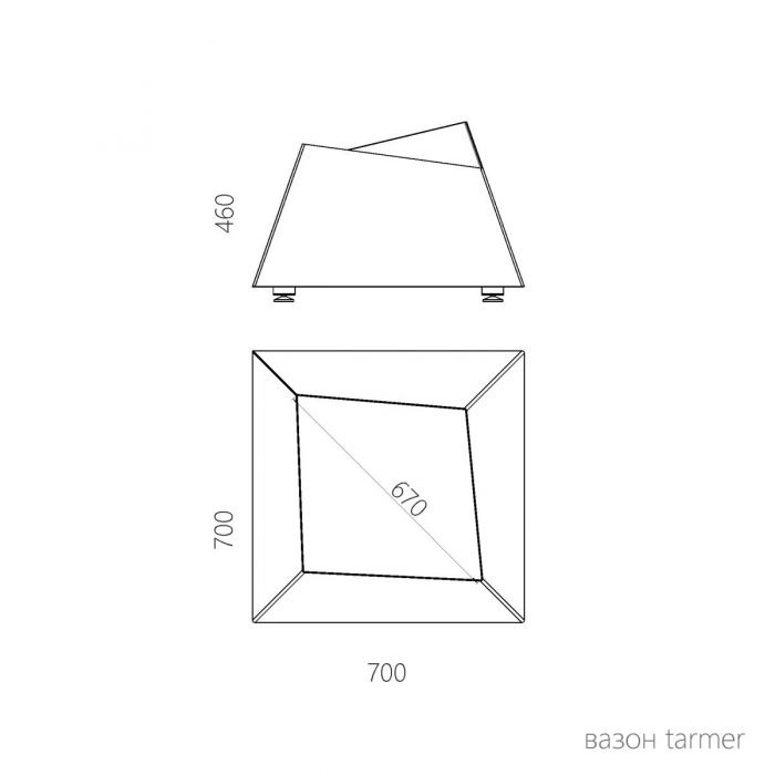 Уличное кашпо Tarmer - дизайнерские товары на Take&Live