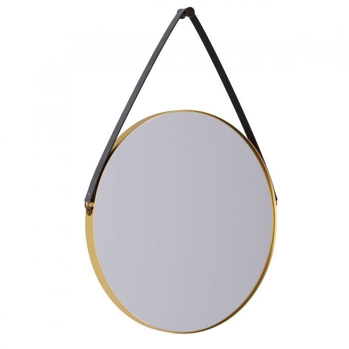 Зеркало с ремнем YU Gold - дизайнерские товары на Take&Live